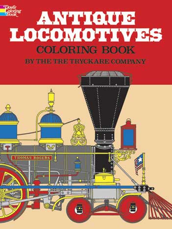 Antique Locomotives colording book