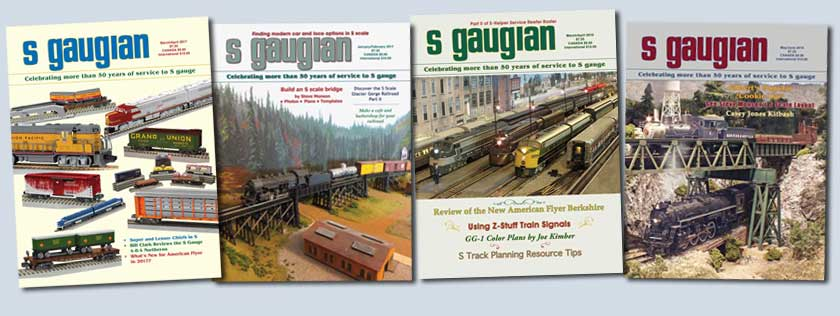 Various back issues of the S Gaugian